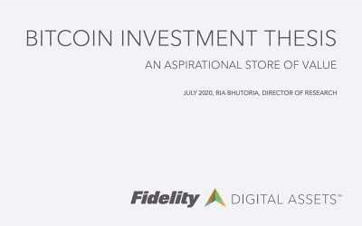 Fidelity – Bitcoin Investment Thesis