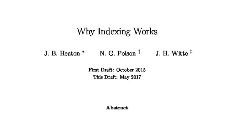 Why Indexing Works